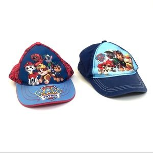 Kids Paw Patrol hats set of 2